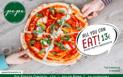 All You Can Eat a Roma: da Pepe Pizza e Fritti No Limits a 13€!