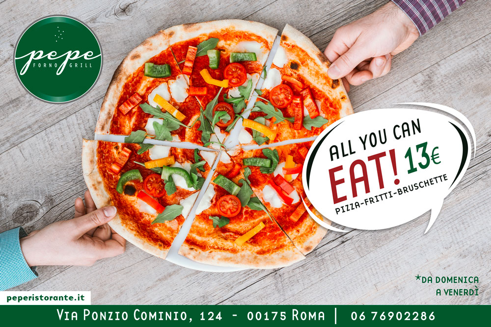 All You Can Eat a Roma: da Pepe Pizza e Fritti No Limits a 13€!
